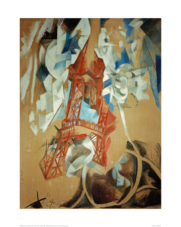 Eiffel Tower, 1910/11 Giclee Print by Robert Delaunay