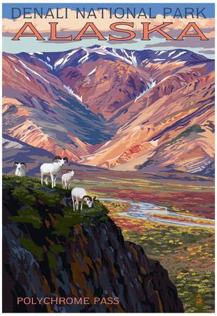 Denali National Park, Alaska - Polychrome Pass Posters