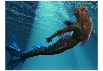 Mermaid Of The Sea Posters