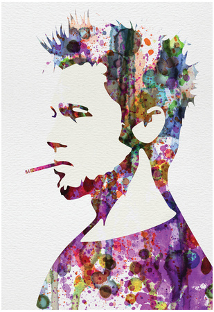 Fight Club Watercolor Plakater af Anna Malkin