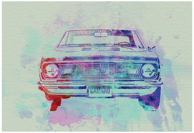 Chevy Camaro Watercolor 2 Print by  NaxArt