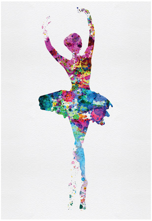 Ballerina Watercolor 1 Posters by Irina March