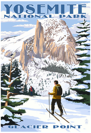 Glacier Point and Half Dome - Yosemite National Park, California Prints