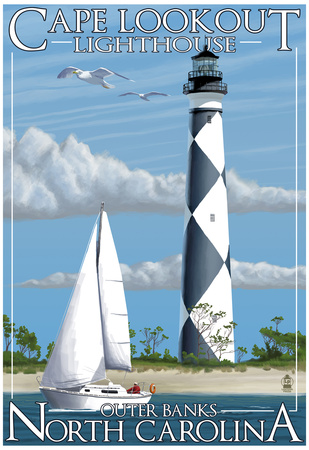 Cape Lookout Lighthouse - Outer Banks, North Carolina Photo