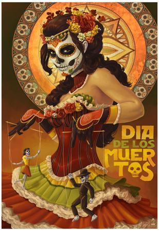 Dia De Los Muertos Marionettes Print