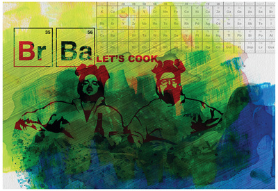 Br Ba Watercolor 1 Poster by Anna Malkin