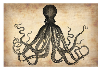 Vintage Octopus Poster by  NaxArt