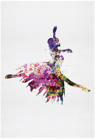 Ballerina on Stage Watercolor 4 Photo by Irina March
