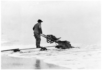 Mining on Beach at Nome, Alaska Photograph - Nome, AK Posters