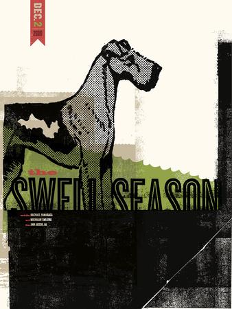 Swell Season Serigraph by  Delicious Design League