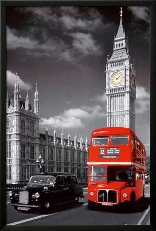 Londres Póster enmarcado con Lamina