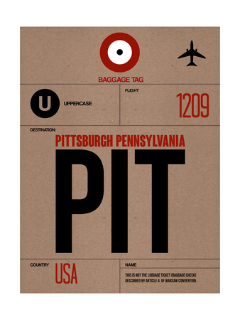 PIT Pittsburgh Luggage Tag 1 Prints by  NaxArt
