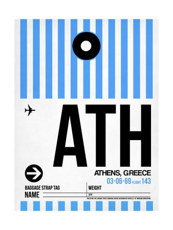 ATH Athens Luggage Tag 1 Print by  NaxArt