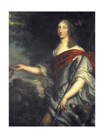 Queen Christina of Sweden as Diana Prints by Justus van Egmont