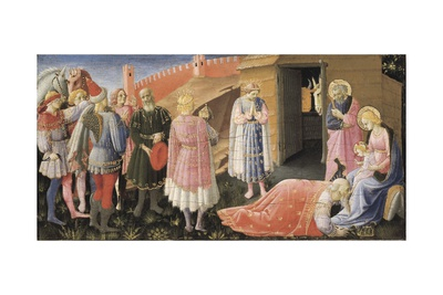 Annunciation Altarpiece Art by  Fra Angelico