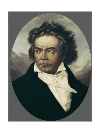 Ludwig Von Beethoven at Age 49 Posters by Ferdinand Schimon