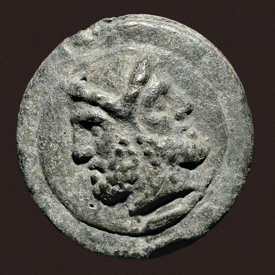 Two Faced Roman God Janus on Ancient Rome Coin Photo