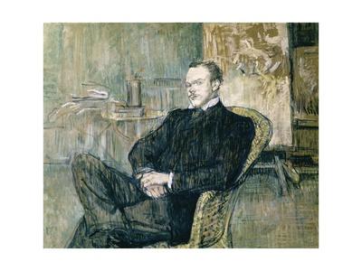 Portrait of Paul Lecrecq Arte por Henri de Toulouse-Lautrec