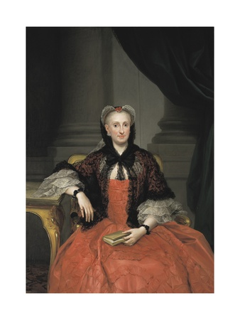 Maria Amalia of Saxony, Queen of Spain Art by Anton Raphael Mengs