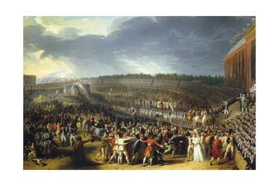 Fete De La Federation, Champs De Mars, Paris, July 14, 1790 Posters by Charles Thevenin