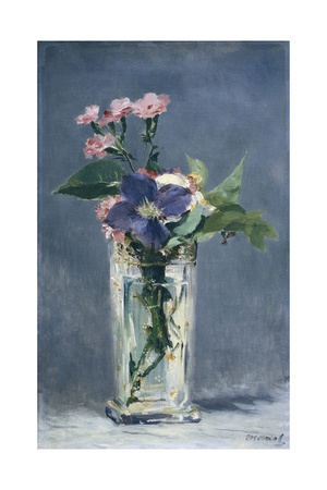 Clematis in a Crystal Vase Prints by Édouard Manet
