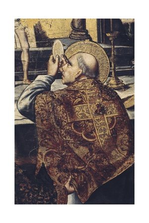 Mass of Saint Gregory (Detail) Posters af Pedro Berruguete