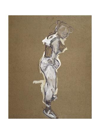 Trapeze Artist Dressing Lámina por Henri de Toulouse-Lautrec