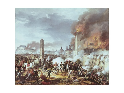 Attack and Conquest of Regensburg Poster by Charles Thevenin