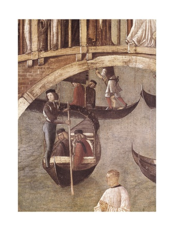 Miracle of the Cross on San Lorenzo Channel Posters by Gentile Bellini