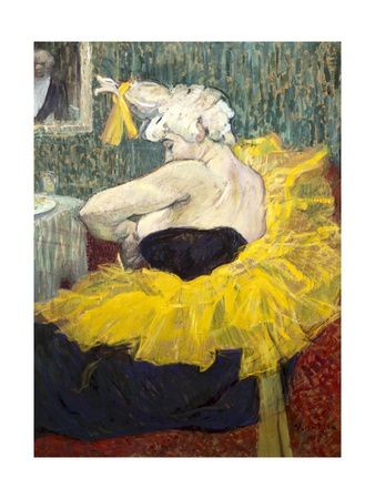 The Clowness Cha-U-Kao Pósters por Henri de Toulouse-Lautrec