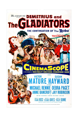 Demetrius and the Gladiators Plakater