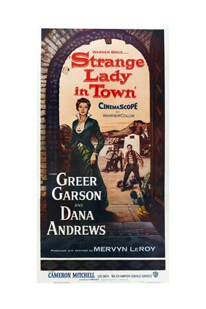 Strange Lady in Town Print