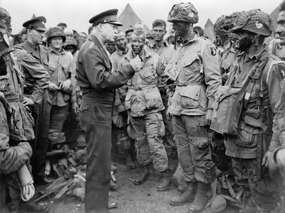 General Dwight Eisenhower Talked to Paratroopers on the Evening of June 5 Photo