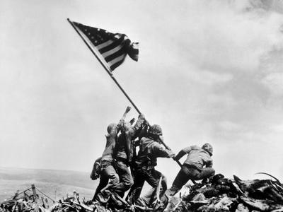 The Second Flag Raising on Iwo Jima on Feb. 23, 1945 Foto