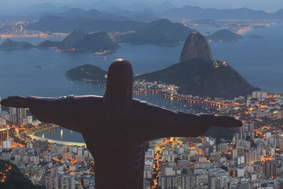 Statue of Christ the Redeemer, Corcovado, Rio De Janeiro, Brazil, South America Fotografisk tryk af  Angelo