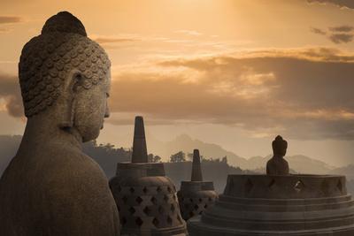 Borobudur Buddhist Temple, UNESCO World Heritage Site, Java, Indonesia, Southeast Asia Photographic Print by  Angelo