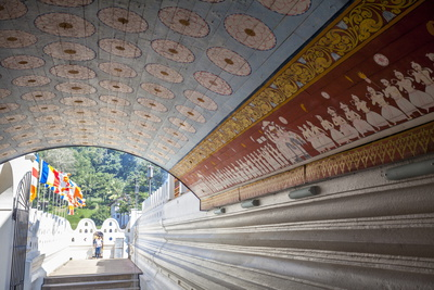 Wall and Ceiling Murals Inside the Temple of the Sacred Tooth Relic, Kandy, Sri Lanka Photographic Print by  Charlie
