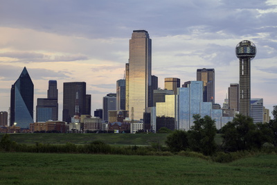 Dallas City Skyline and the Reunion Tower, Texas, United States of America, North America Photographic Print by  Gavin