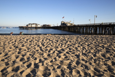 Beach and Stearns Wharf Photographic Print by  Stuart