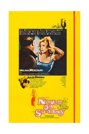 Never on Sunday Posters
