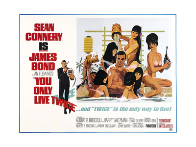 You only live twice james bond sean connery vintage movie film poster