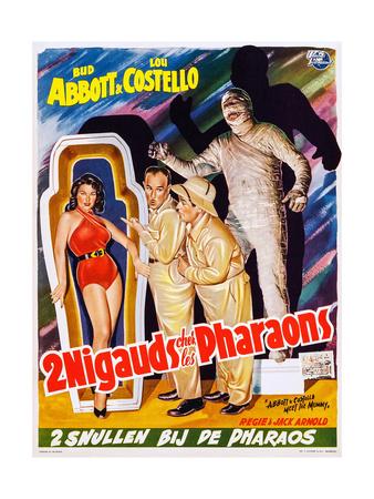 Abbott and Costello Meet the Mummy (aka 2 Nigauds Chet Les Pharaons) Posters