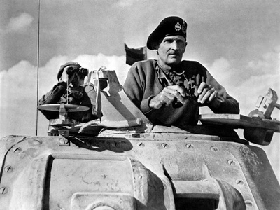 General Bernard Montgomery in His Grant Tank in North Africa Foto