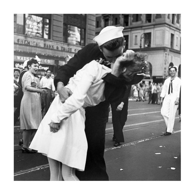 Kissing the War Goodbye in Times Square, 1945, II Prints by Victor Jorgensen