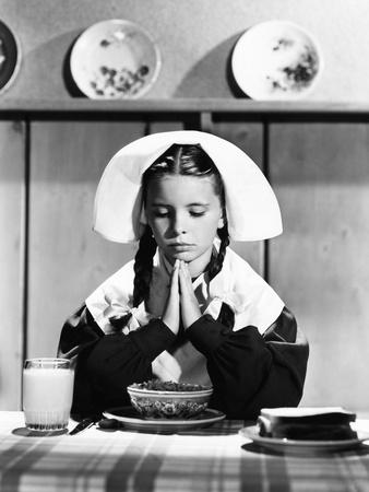 Margaret O'Brien Giving Pilgrim Thanks for Her Blessings Photo