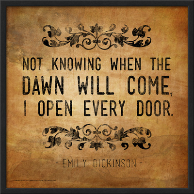 Now Knowing - Emily Dickinson Classic Quote Art by Jeanne Stevenson