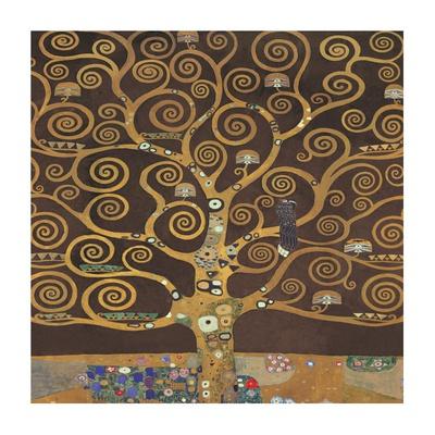 Tree of Life (Brown Variation) II Art by Gustav Klimt