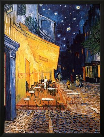 The Café Terrace on the Place du Forum, Arles, at Night, c.1888 Art by Vincent van Gogh