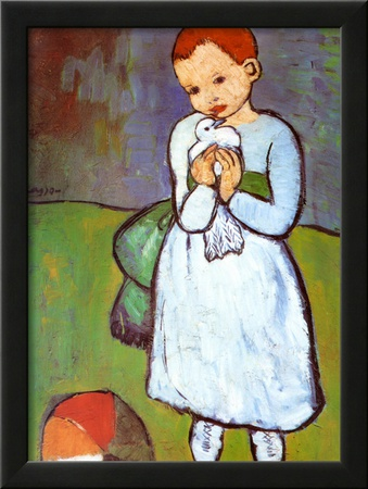 Child with a Dove, c.1901 Posters by Pablo Picasso
