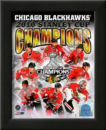 2009-10 Chicago Blackhawks Stanley Cup Champions Print